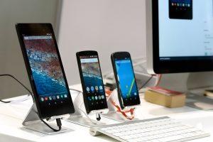 Vários tipos de Smartphones